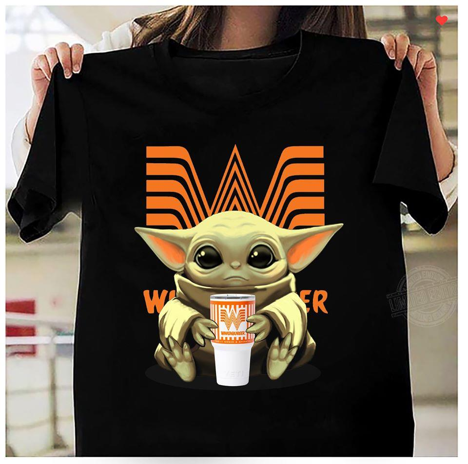 Baby Yoda Drink Whataburger Shirt