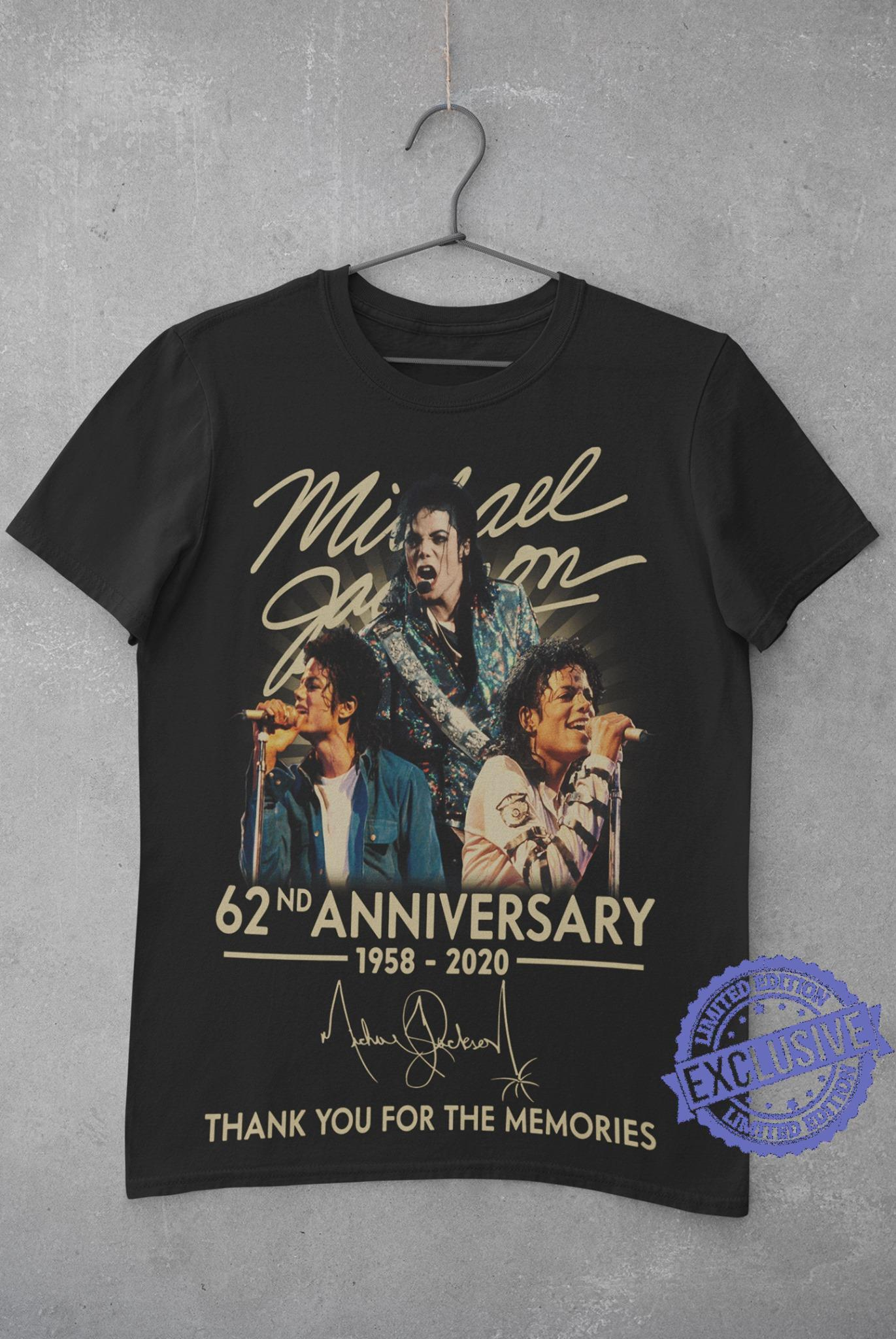 Mikael 62nd anniversary 1958 2020 thank you for the memories shirt