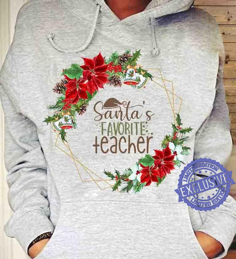 Santa's favorite teacher shirt